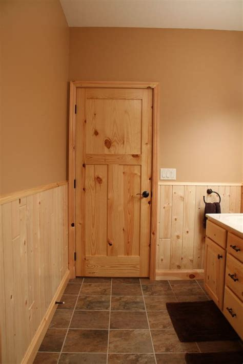 Interior Doors Knotty Pine Craftsman Style Bathroom Door Interior Pine Door