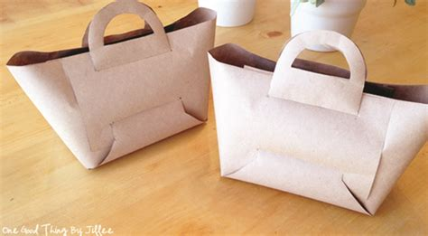 Make A Paper Purse - how to make a brown paper goodie bag one thing by