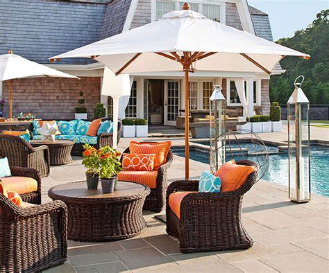 pool and patio decor outdoor furniture and fabric ideas