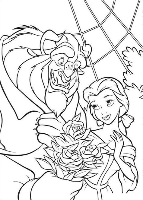 un bel mazzo di fiori colorare la e la bestia disegno un bel mazzo di fiori