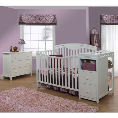 sorelle convertible crib white sorelle 4 in 1 crib and changer combo white