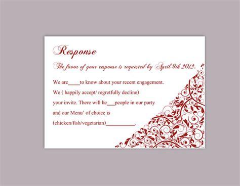free wedding rsvp card templates diy wedding rsvp template editable text word file