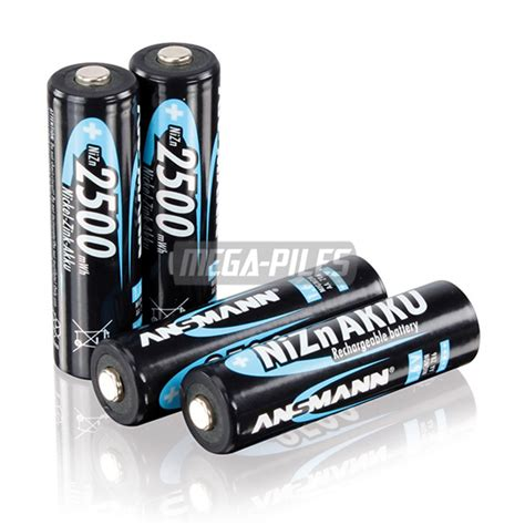 Amazonbasics Pile Rechargeable Aa X4 Aaa X4 by Piles Rechargeables Nizn Aa Zr6 1 6v 2500mwh X4 Ansmann M 233 Ga Piles