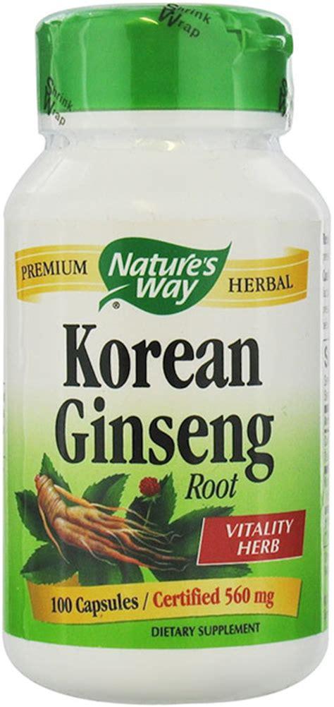 Korean Ginseng Nature S Health nature s way ginseng korean 560 mg 100 capsules