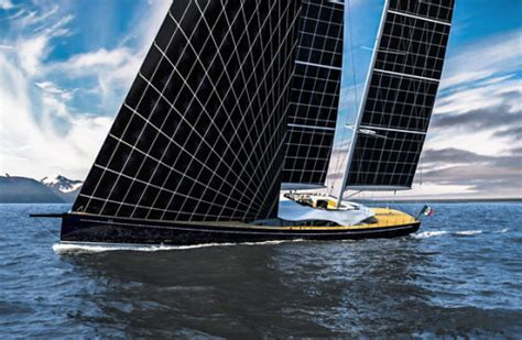 sailing boat under power sun powered sailboat yacht features flexible solar sails