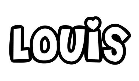 Coloriages Des Pr 233 Noms Lory 224 Louis Marie