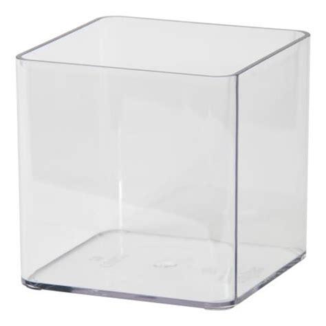 vaso plastica trasparente cubik vision euro3plast