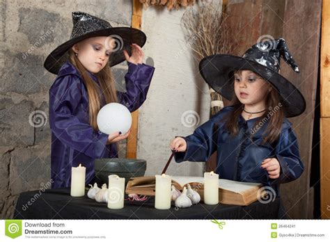 two little witches a 0763633097 two little witches stock image image 26464241