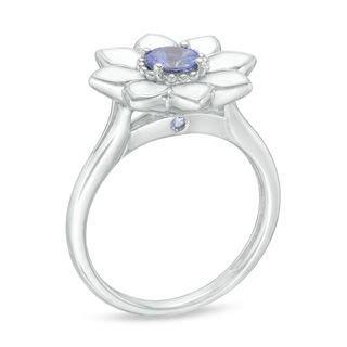 bl 246 em lab created ceylon blue sapphire with white enamel