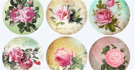Decoupage Blanks - rosas redondo postal products for decoupage napkins for