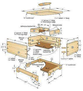 plans  build secret compartment jewelry box plan