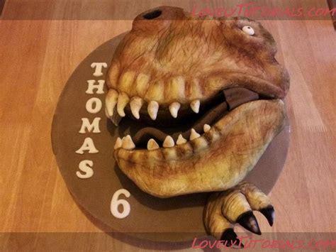 Carved Tyrannosaurus Head Cake Tutorial Cake De Ing