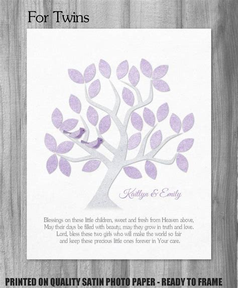 printable twin quotes twins dedication gift twin baby girls baptism blessing