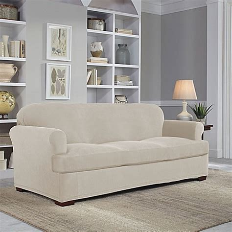 perfect fit sofa covers perfect fit 174 easy fit 2 piece t sofa slipcover www