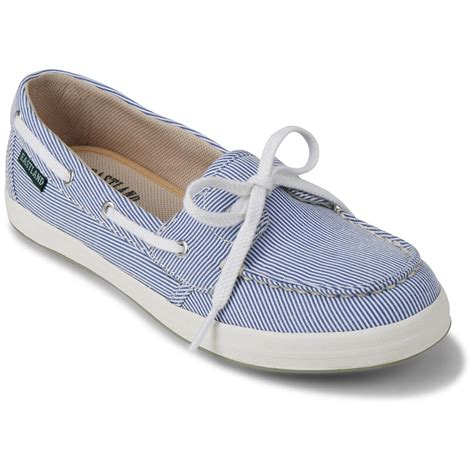 eastland s skip canvas slip on boat shoes 674358