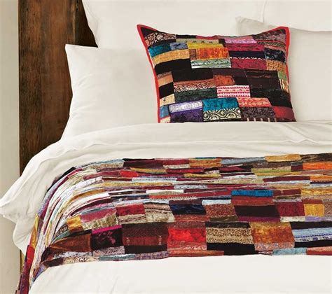 Velvet Patchwork Bedspread - 9 best images about velvet crafts on quilt