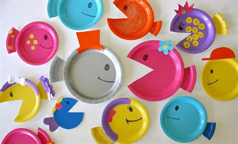 How To Make A Fish Out Of A Paper Plate - paper plate fish made everyday