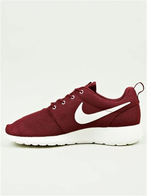 mens burgundy sneakers nike mens burgundy roshe run sneakers in for