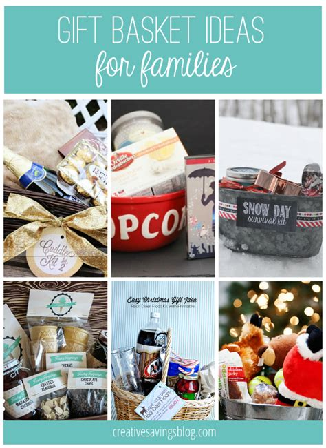 family gift ideas diy gift basket ideas for everyone on your list