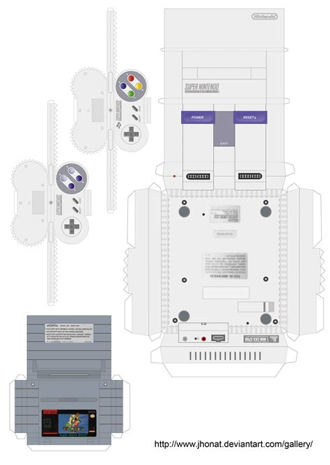 Nes Papercraft - papercraft snes by jhonat on deviantart