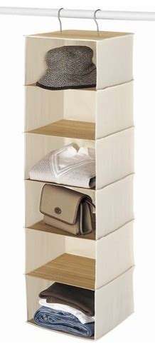 hanging canvas and bamboo accessory storage traditional