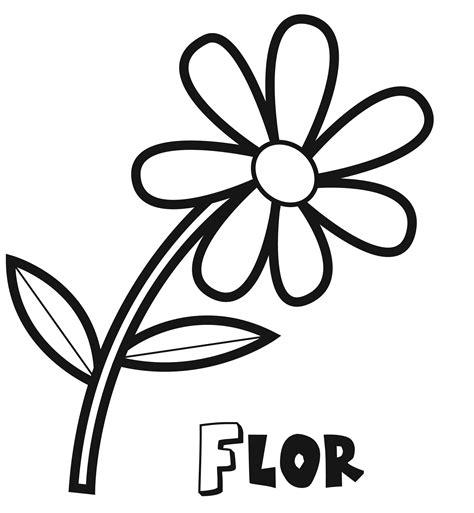 imagenes para colorear flor dibujo de una flor de primavera para colorear