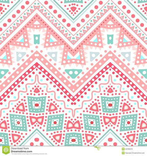 cute ethnic pattern tribal ethnic zig zag pattern vector illustration stock