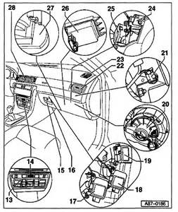 where is the blower motor resistor located on the 98 audi