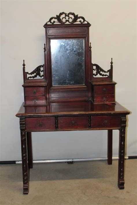 fancy vanity fancy asian vanity table with mirrored top and glove draws