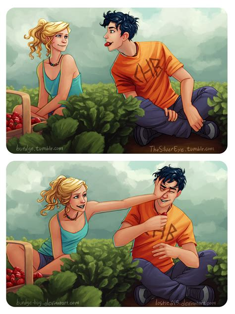 percy and annabeth in bed percabeth strawberries by burdge bug by lostie815