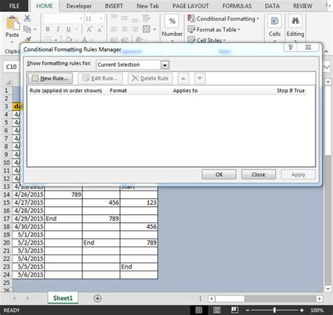 excel 2007 conditional format blank cells conditional format between first and last non blank cells
