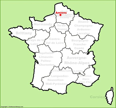 amiens map amiens location on the map