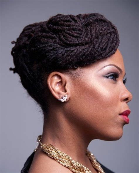 black women natural loc updo hairstyles pinterest the world s catalog of ideas