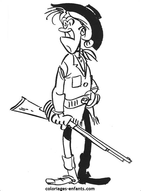Coloriage Cowgirl porte son arme couleur dessin gratuit à