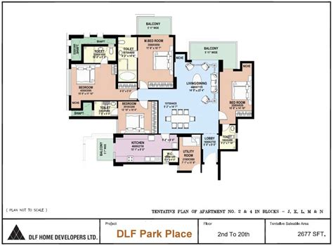 park place floor plans 4bhk apartment for sale in sector 54 gurgaon at dlf park