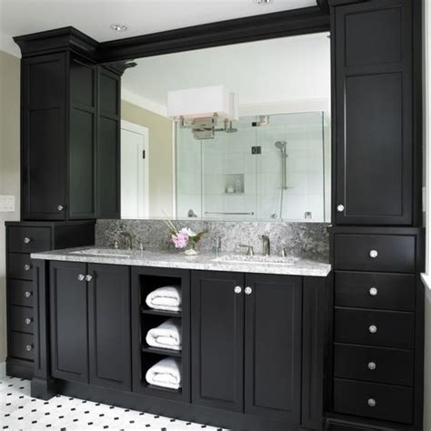 black bathroom floor cabinet black bathroom cabinets with white and grey counter top