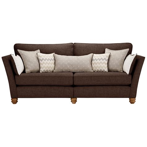 oak furniture land sofa gainsborough 4 seater sofa in brown oak furniture land
