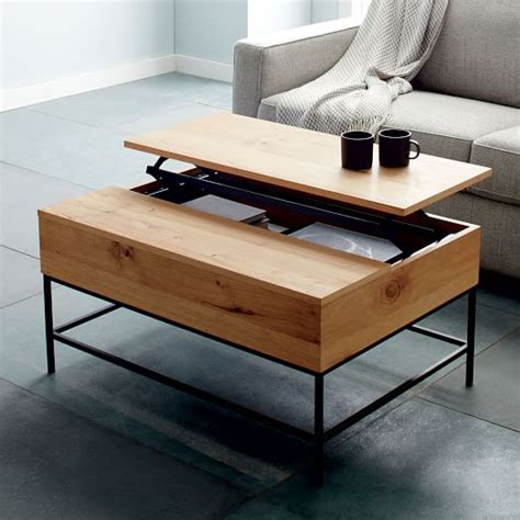 small side table with storage industrial storage coffee table elm