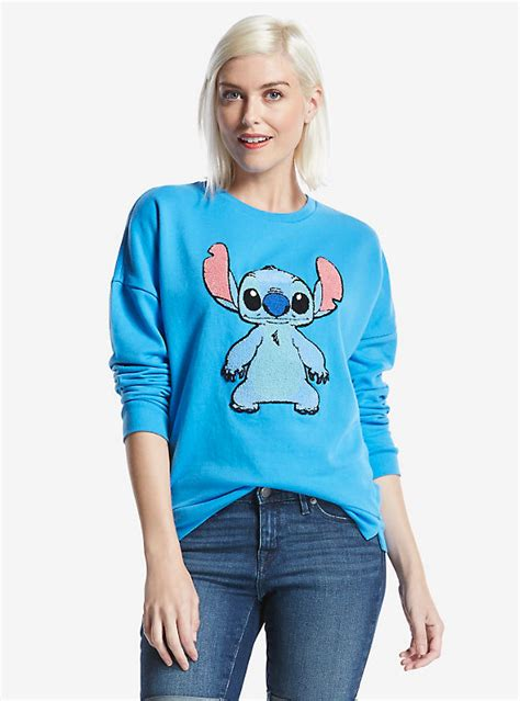 Sweater Rajut Lilo Stitch disney lilo stitch patch womens sweater boxlunch