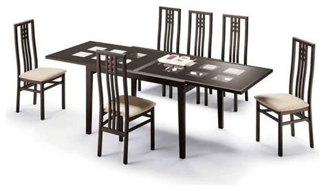 high class glass top designer table set contemporary