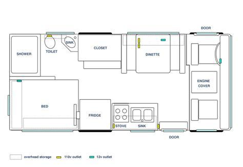 Rialta Rv Floor Plans by 22ft Winnebago Chieftain Class A Motorhome 1988 Fully