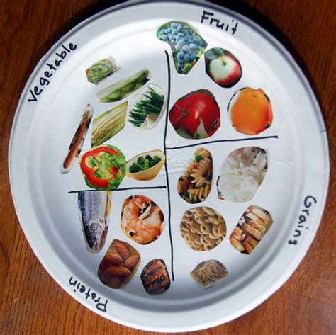 food craft for food plate food pyramid middle and child