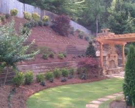 landscaping a hill steep hillside landscaping ideas i think the mulch might