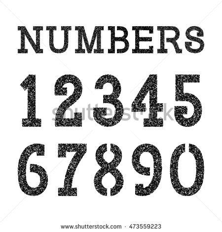 spray paint font numbers stencil font stock images royalty free images vectors