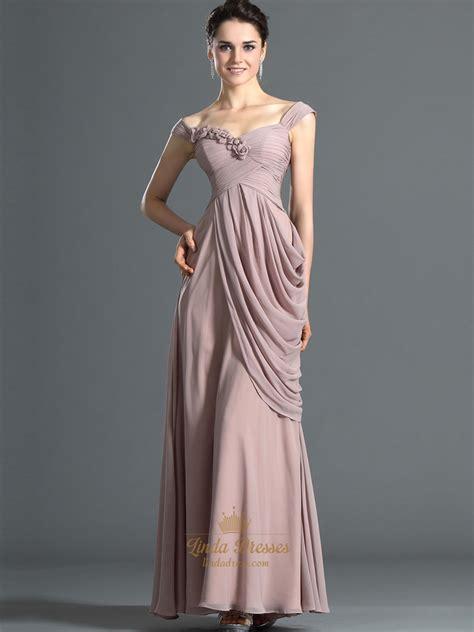 Elegancy Gold Dress pastel pink the shoulder side drape prom dress with