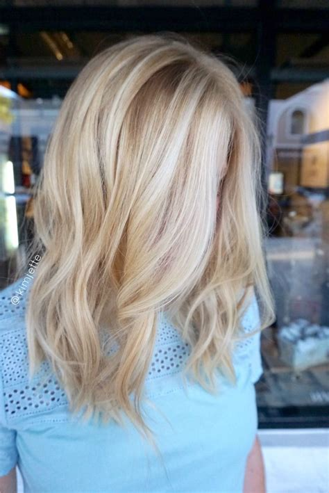 blonde hairstyles colors highlights golden blonde balayage highlights