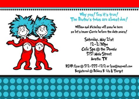 thing 1 and thing 2 baby shower invitations thing 1 and thing 2 baby shower invitation by freshlycutcards