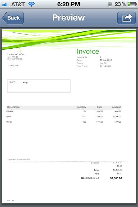 design invoice app app for that how to create a simple a invoice imore