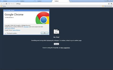 chrome flash doesnt work windows vista quot aw snap quot why doesn t chrome work user