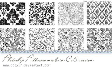 blue photoshop patterns by apricum on deviantart floral black and white photoshop patterns by coby17 on